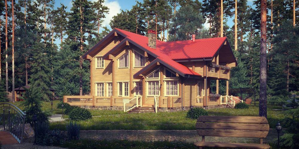 Проект дома из клееного бруса Borki - 1