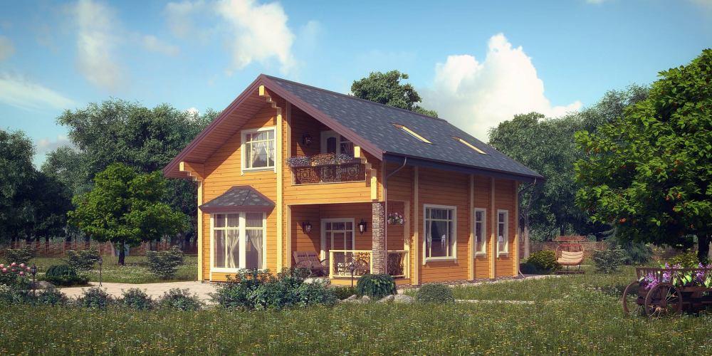 Проект дома из клееного бруса Vesta - 1