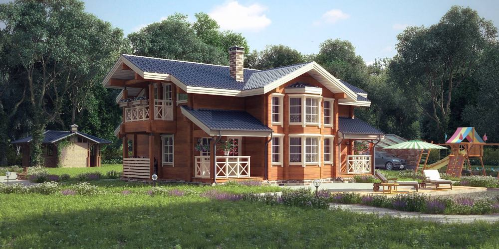 Проект дома из клееного бруса Toksovo - 1