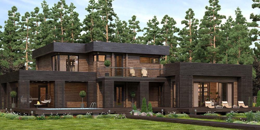 Проект дома из клееного бруса Alber - 1