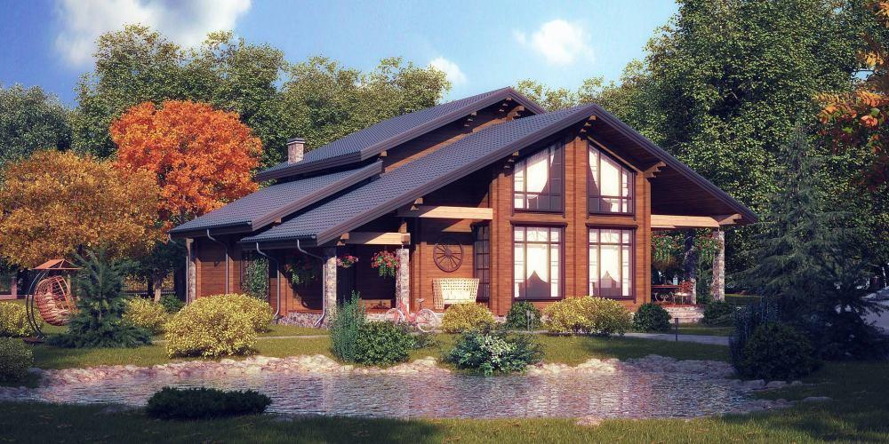 Проект дома из клееного бруса Verona - 1