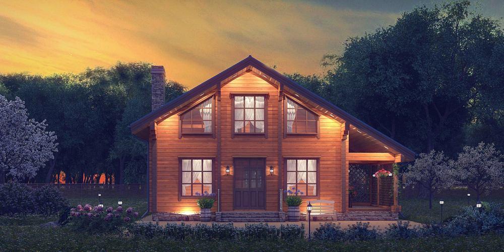 Проект дома из клееного бруса Villan - 1