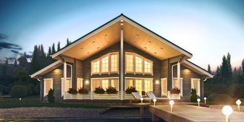 Проект дома из клееного бруса Parus - 1