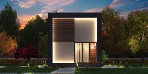 Проект дома из клееного бруса Asten - 1
