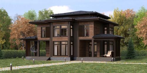 Проект дома из клееного бруса Ritz - 1
