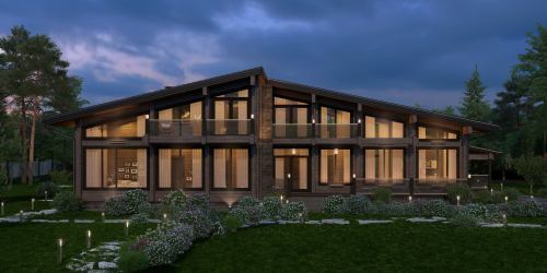 Проект дома из клееного бруса Prato - 1