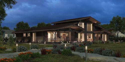 Проект дома из клееного бруса Modena - 1