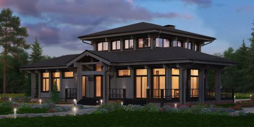 Проект дома из клееного бруса Floret - 1