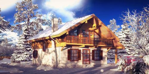 Проект дома шале из клееного бруса Alpen - 1