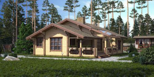 Проект дома из клееного бруса Hager - 1