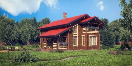 Проект дома из клееного бруса Gross - 1
