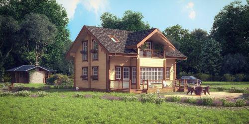 Проект дома из клееного бруса Lodi - 1