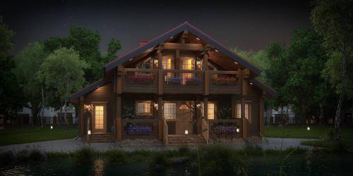 Проект дома из клееного бруса Nuoro - 1