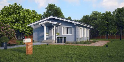 Дом из клееного бруса «Pro_84»