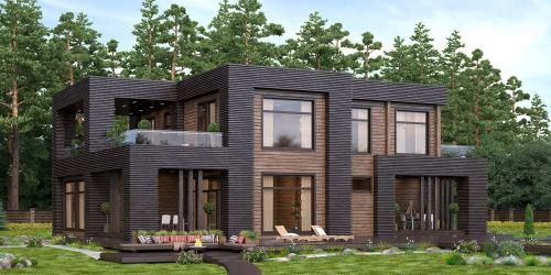 Проект дома из клееного бруса Vang - 1