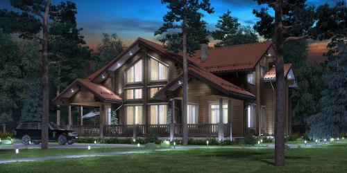 Проект дома из клееного бруса Valdai - 1
