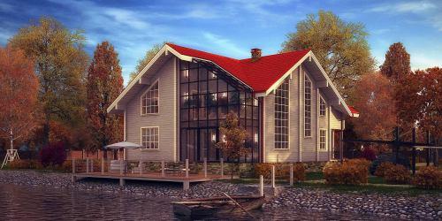 Проект дома из клееного бруса Garda - 1